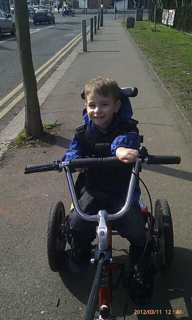 Kyle with his trike