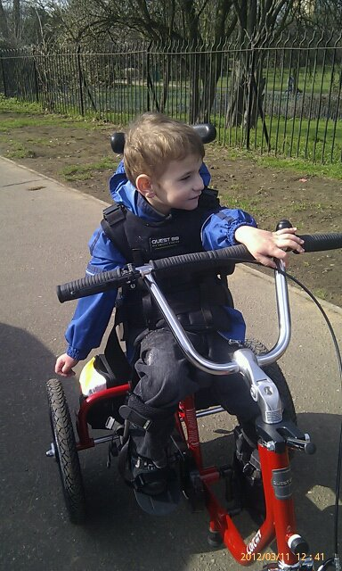 Kyle and his trike